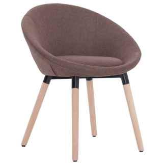 vidaXL Valgomojo kėdė, rudos spalvos, audinys