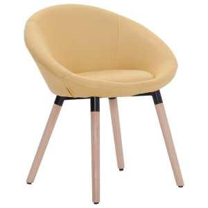 vidaXL Valgomojo kėdė, geltonos spalvos, audinys