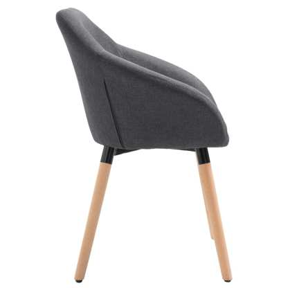 Valgomojo kėdė, tamsiai pilkos spalvos, audinys