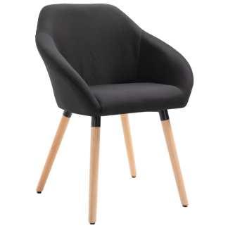 vidaXL Valgomojo kėdė, juodos spalvos, audinys