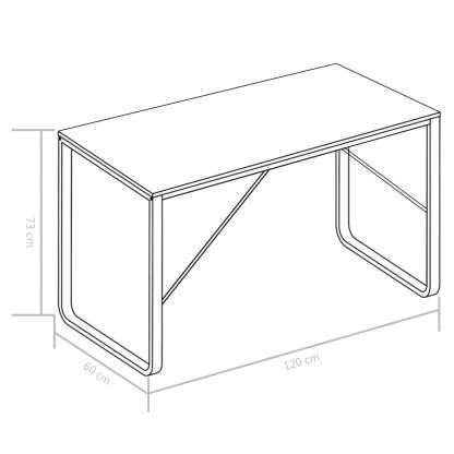 Kompiuterio stalas, baltas, 120x60x73cm