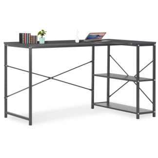vidaXL Kompiuterio stalas, juodas, 120x72x70cm