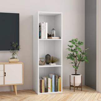 vidaXL Spintelė knygoms/TV, baltos sp., 36x30x114cm, medž. drož. pl.