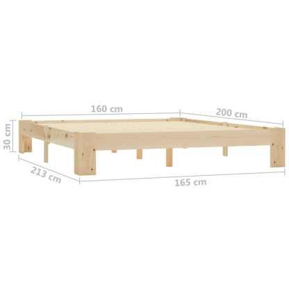 Lovos rėmas, 160×200 cm, pušies medienos masyvas