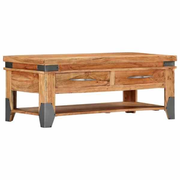 vidaXL Kavos staliukas, 110x55x45 cm, akacijos medienos masyvas