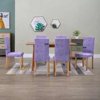 vidaXL Valgomojo kėdės, 6 vnt., violetinės spalvos, poliesteris