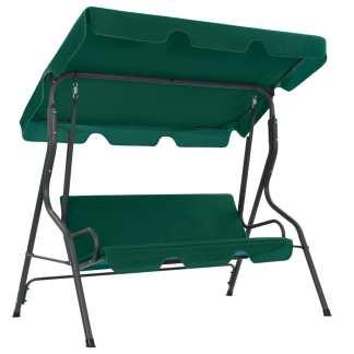 vidaXL Sodo sūpynės-suoliukas, žalias, 170x110x153cm, audinys