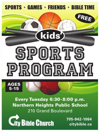 sports program flyer
