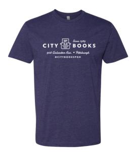 Midnight purple t-shirt with white printing