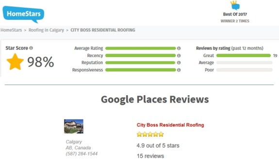 roofing reviews Calgary & Okotoks