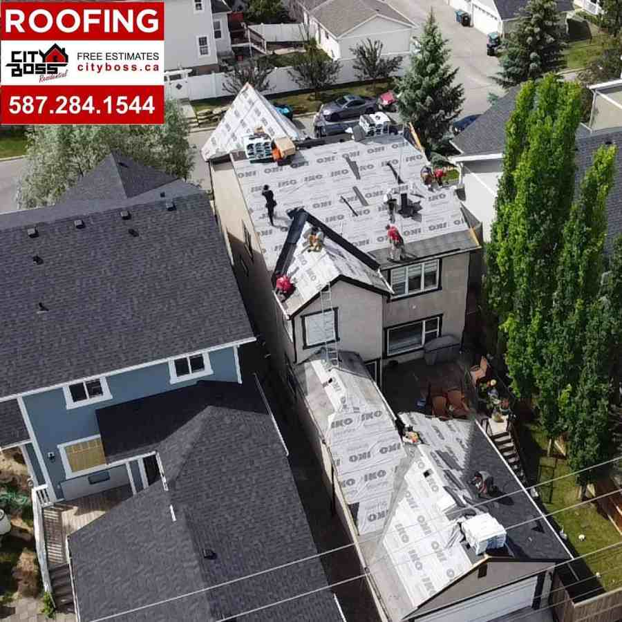 roof replacement progress