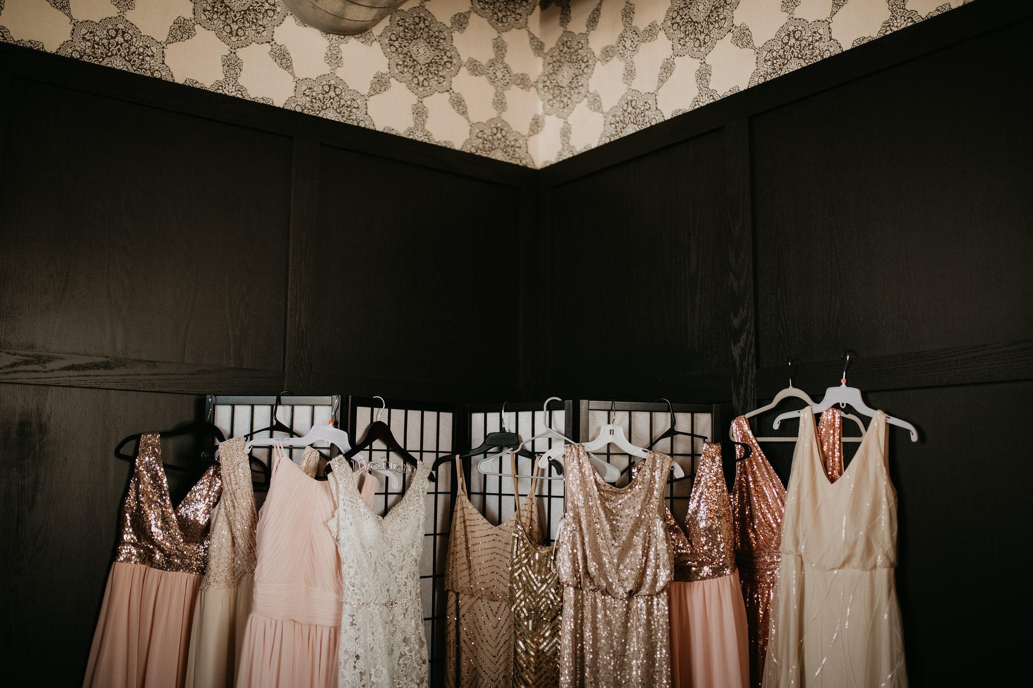brides and bridesmaid dresses