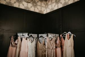 brides and bridesmaid dresses