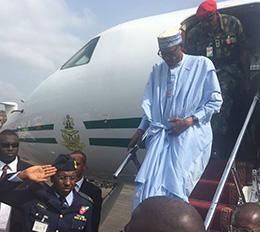 Buhari in Ondo, seeks support for Akeredolu