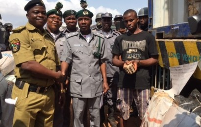 Customs intercepts truck with adulterated diesel products