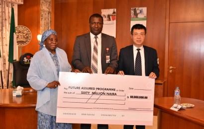 China donates N60m to Future Assured, Aisha Buhari's Project