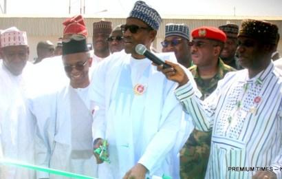 Buhari inaugurates Kaduna Inland Dry Port, locomotives