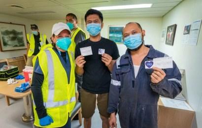 Visiting Sailors Receive COVID-19 Vaccination At Ports
