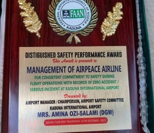 Air Peace Gets Second Safety Performance Award In Three Months
