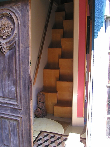 Alternate Tread Stairs City Comforts The Blog   Wood Alternating Tread Stair   Loft Stairs   Thebestwoodfurniture   Stair Railing   Staircase Design   Tread Depth