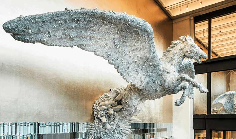 Damien Hurst's stunning Pegasus at Selfridges' Brasserie of Light