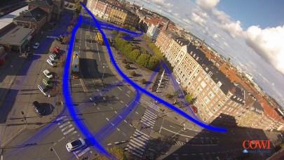 Figur 2. Bevægelsesmønstrene for cyklisterne.