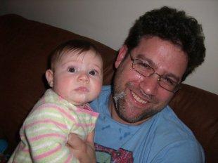 baby vomits on dad