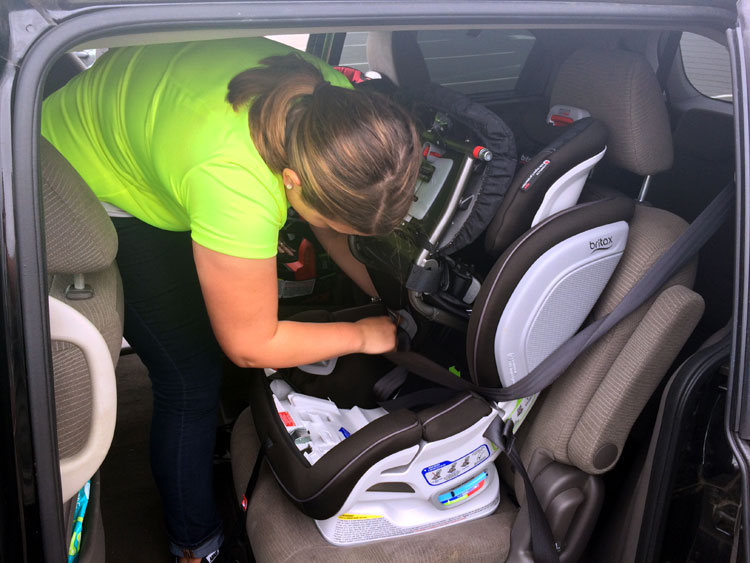 child car seat safety - installing a Britax car seat