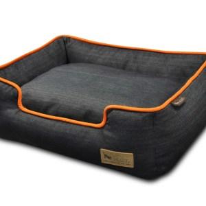 Denim Lounge Bed Orange