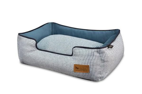 Houndstooth Lounge Bed Light Blue