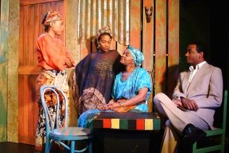 Sophie (Emana Rachelle), Jospehine (Shronda Major), Mama Nadi (Chalethia Williams), Christian (Cecil Washington, Jr.)