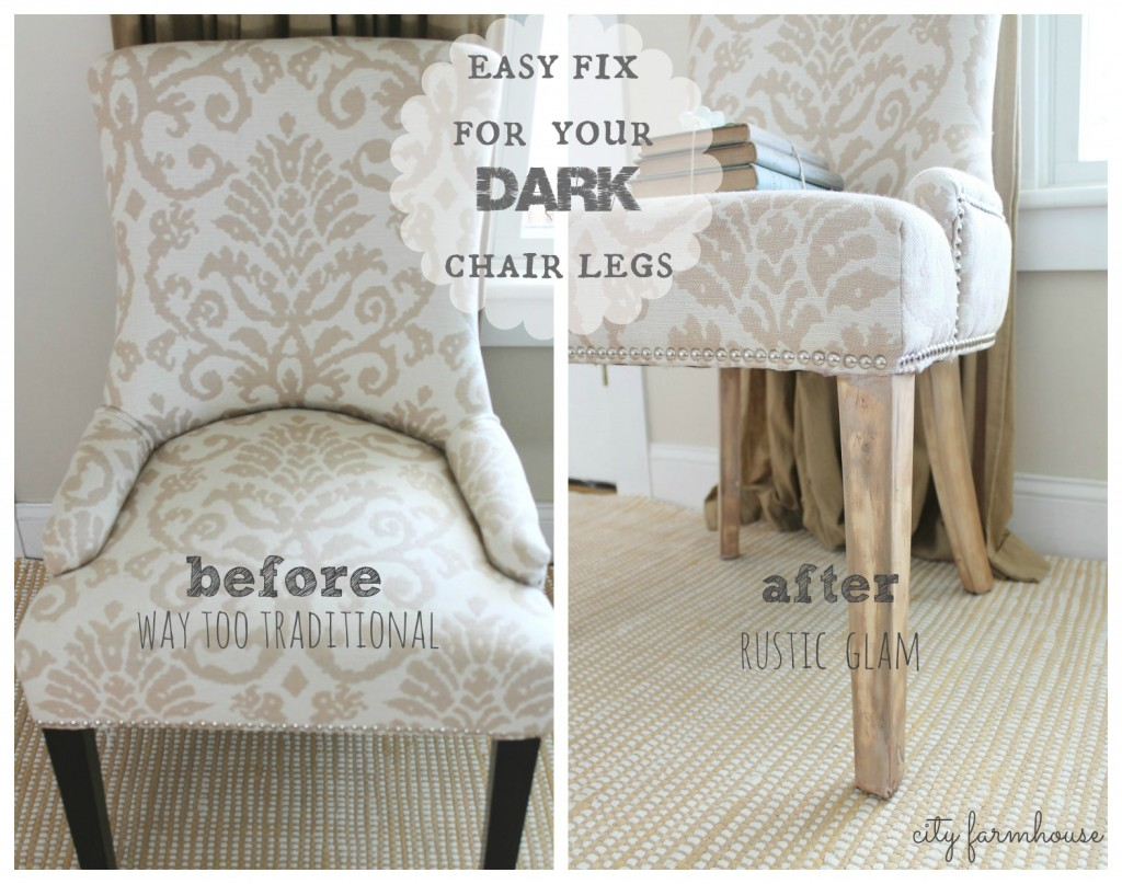 Rustic Glam Chair MakeoverEasy Fix For Those Dark Legs