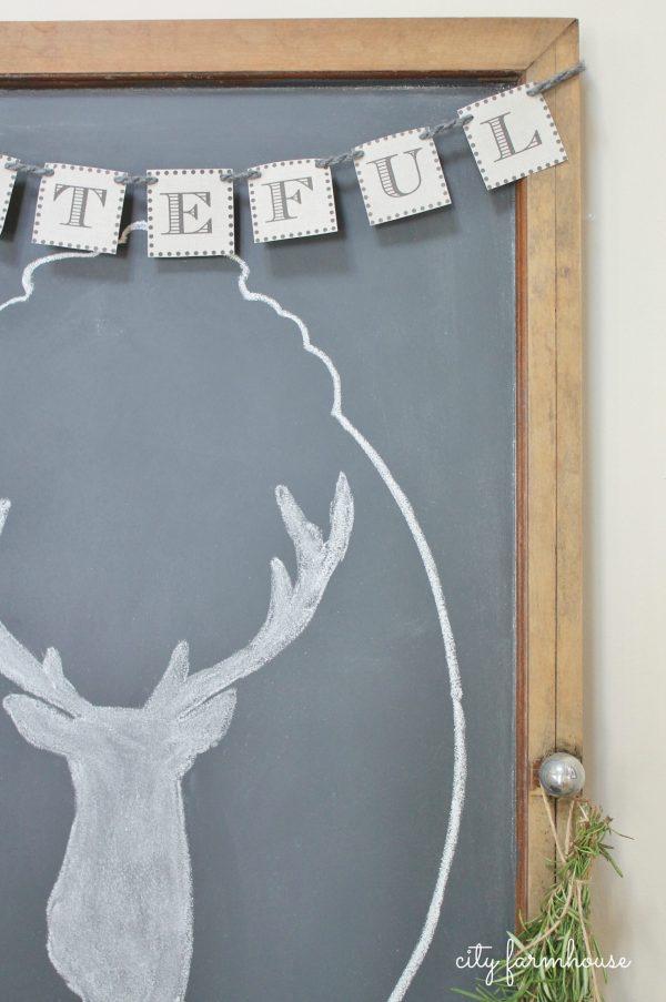 Make Easiest Chalkboard & Stag Silhouette