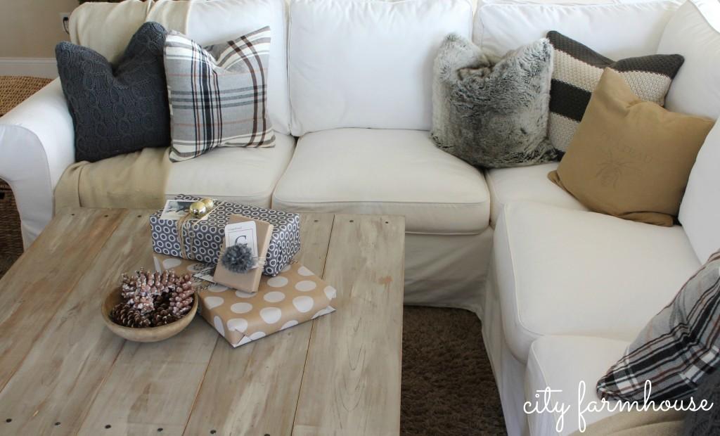 Ikea HackDIY Plaid Pillowsfrom a throw  City Farmhouse