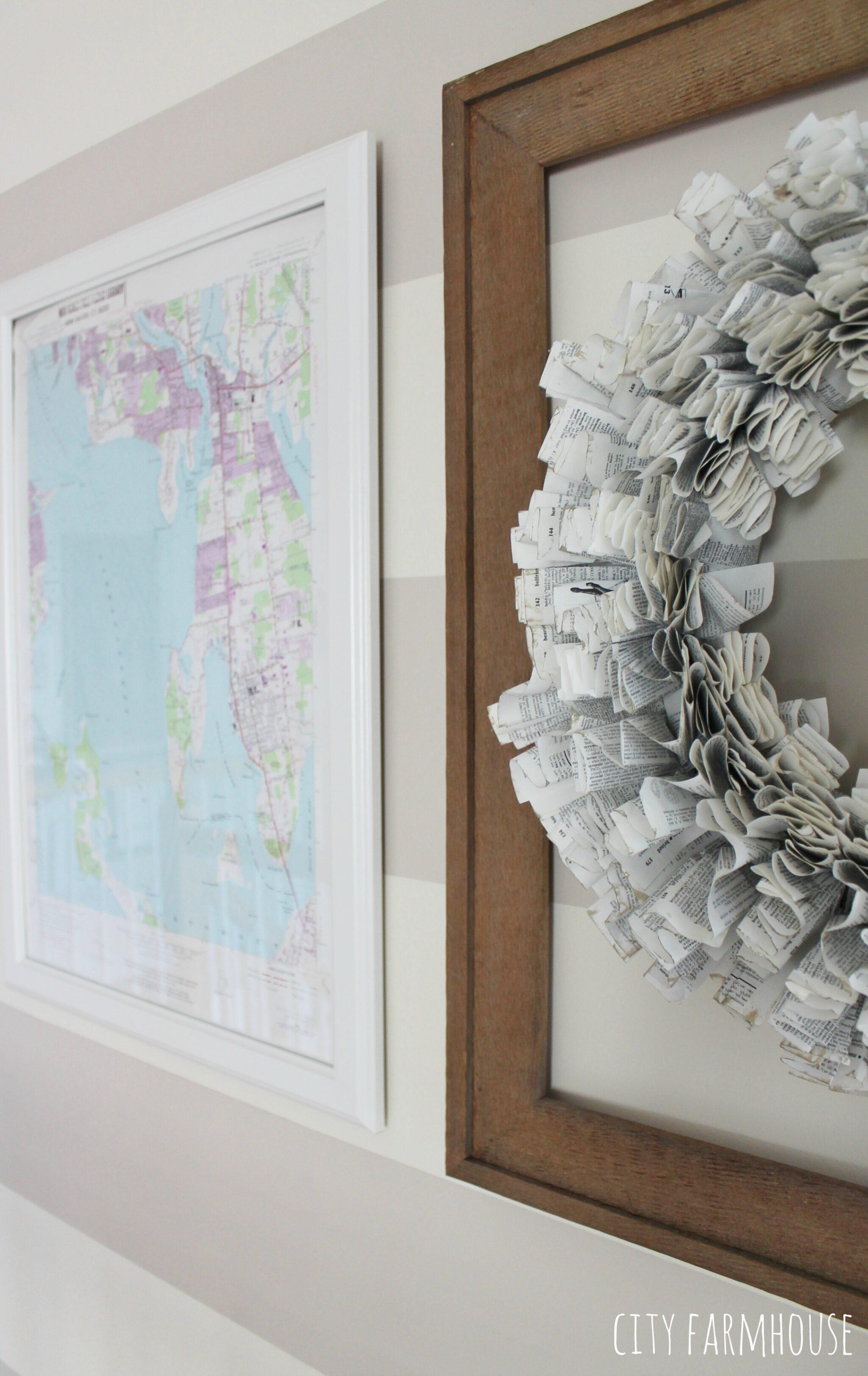 DIY Map ArtGive Your Walls A Coastal Look in 10 Minutes  City Farmhouse