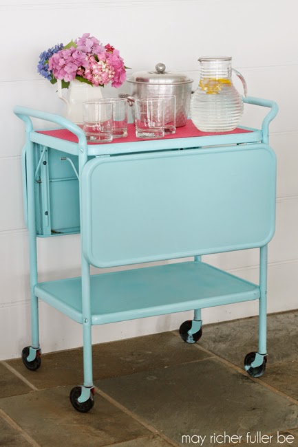 May Richer Be Fuller Vintage Bar Cart
