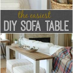 Easy Sofa Table Diy Upholstery Fabrics For Sofas The Easiest Reclaimed Wood City Farmhouse