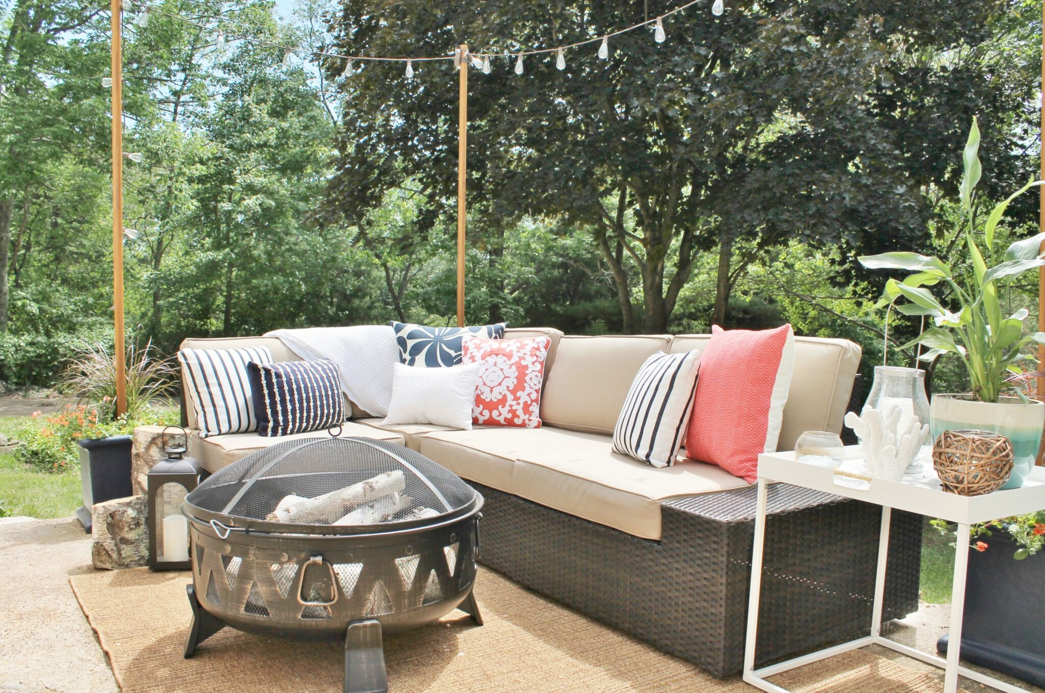 patio string chair plywood lounge and ottoman diy outdoor light poles city farmhouse