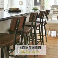 Modern Farmhouse Kitchen Barstools Revealed - City Farmhouse