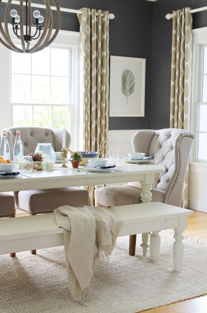 modern farmhouse living room curtains swivel chairs upholstered dining tables city