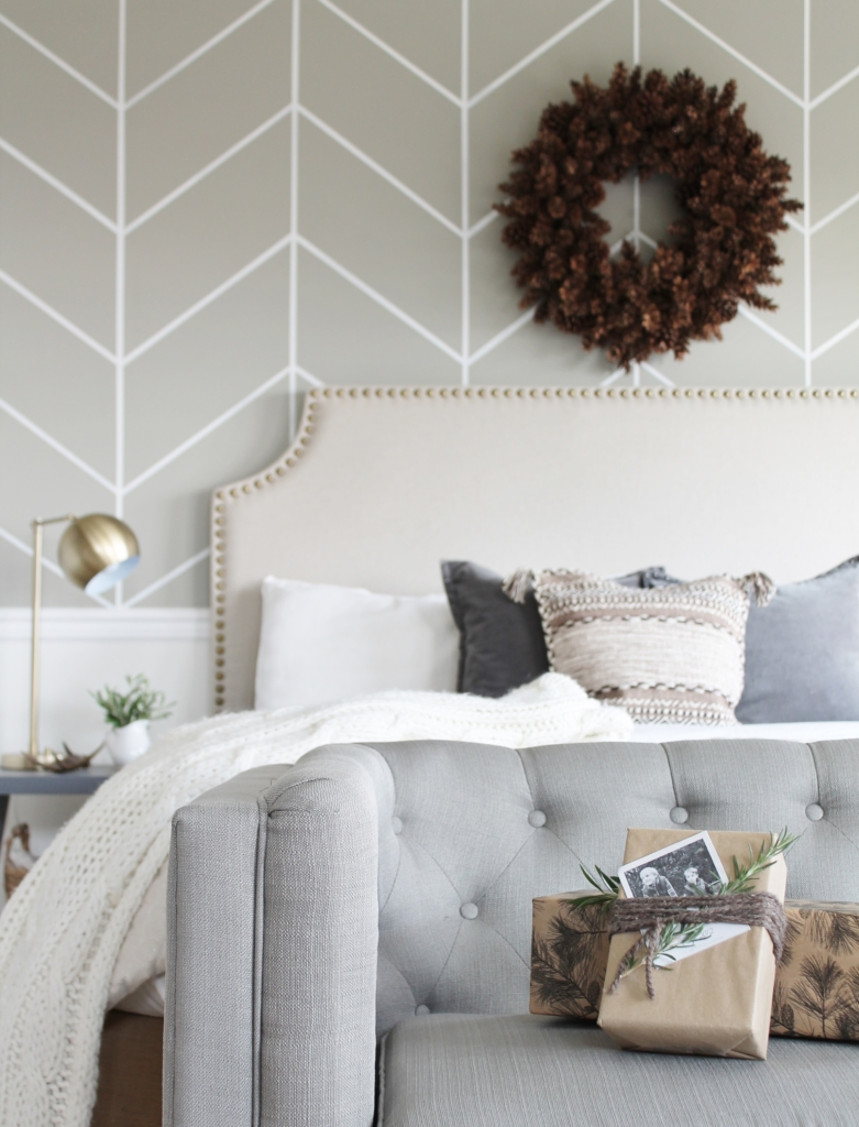 Simple Modern Farmhouse Holiday Bedroom