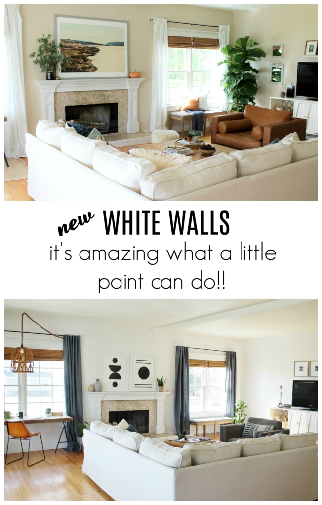 ikea white leather chair luxury office chairs uk details on my family room: paint, curtains, art + more - city farmhouse