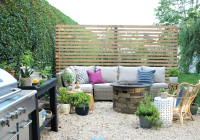 Modern Wood Slatted Outdoor Privacy Screen: Details On How ...