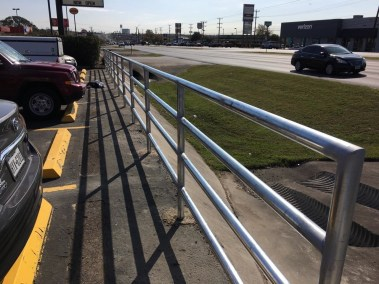 5' Tall Guard Rail Galvanized Pipe Fencing
