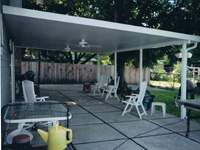 Large Patio Cover with Fans