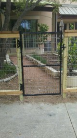 5' Tall Wood & Wire Combo Fencing