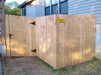 Privacy Fencing with Gate