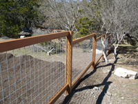 Rough Cedar w/Welded Wire Fencing