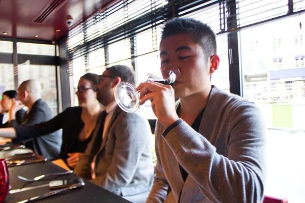 Jason drinking wine