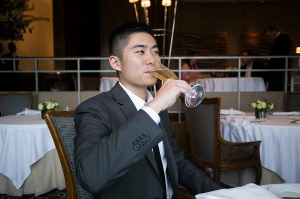 Jason Drinking Champagne